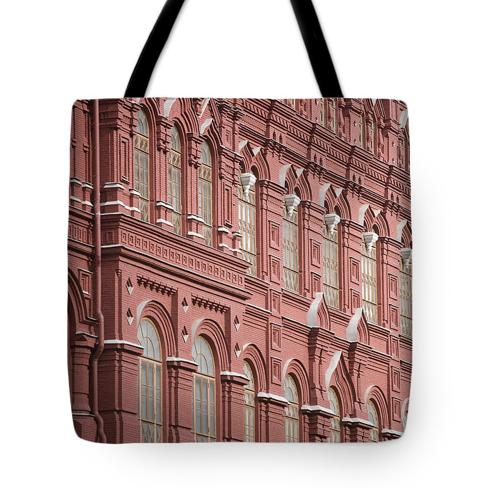 Kremlin Tote Bag featuring the photograph Detail Of The Kremlin, Moscow, Russia by John Burcham