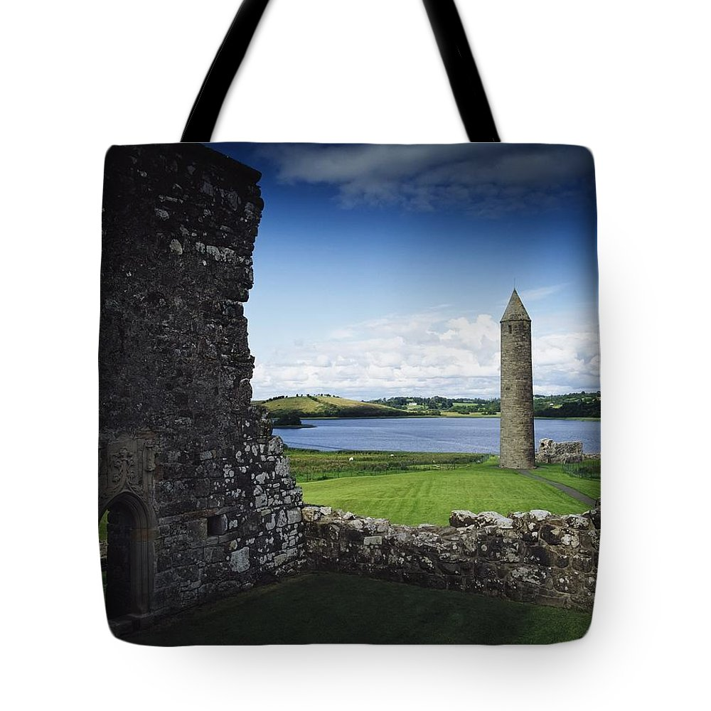 Outdoors Tote Bag featuring the photograph Devenish Monastic Site, Lough Erne, Co by The Irish Image Collection