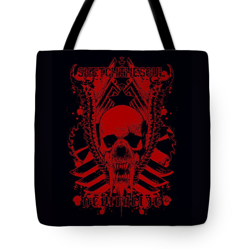 Tony Koehl Tote Bag featuring the mixed media Devitalized by Tony Koehl