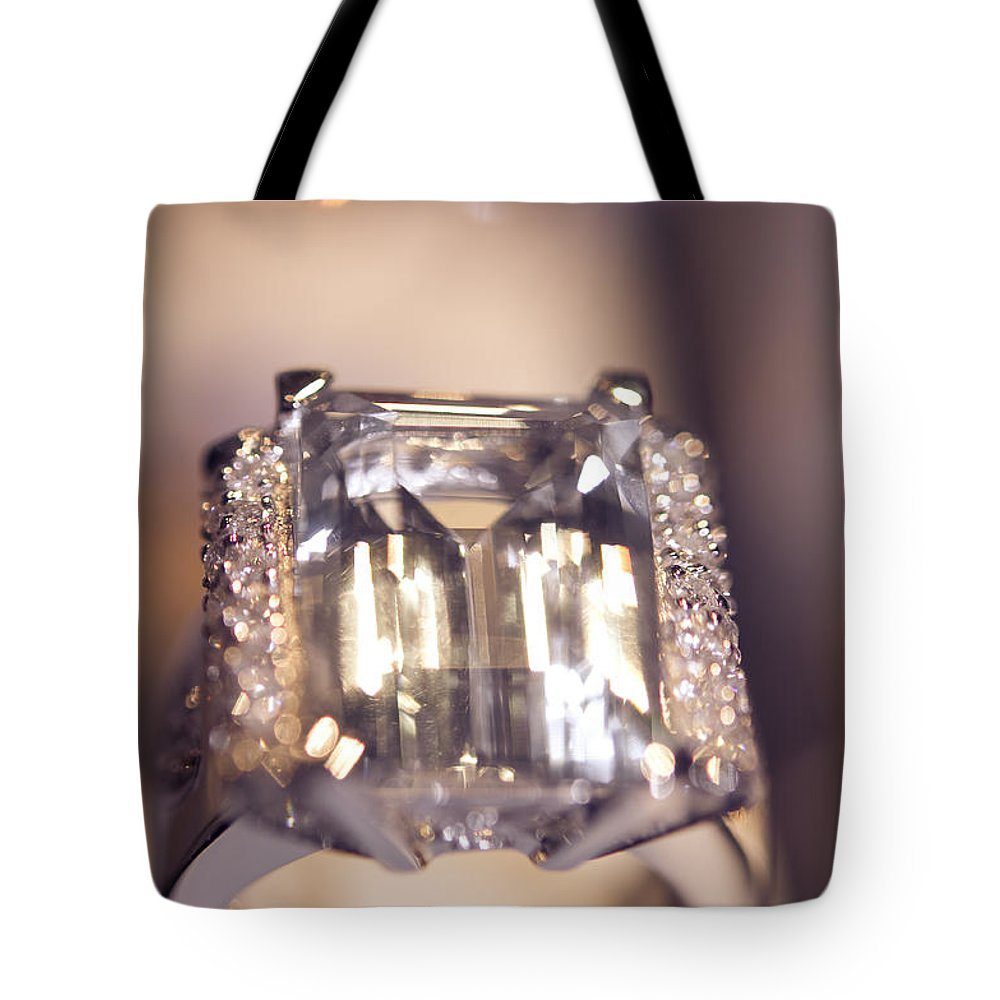 Ring Tote Bag featuring the photograph Diamond Ring. Spirit Of Treasure by Jenny Rainbow