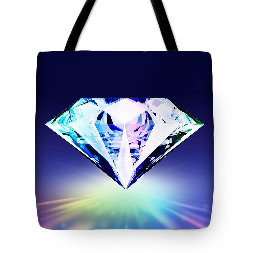 Background Tote Bag featuring the digital art Diamond by Setsiri Silapasuwanchai