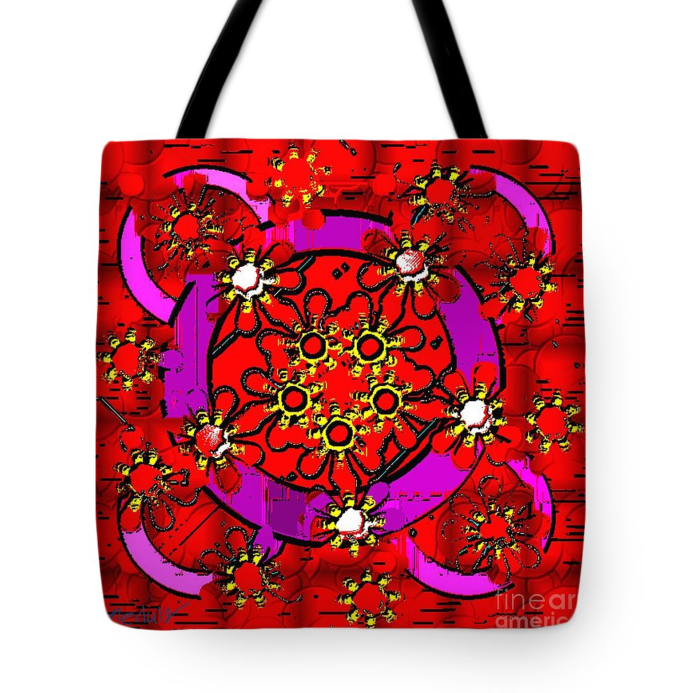 Paintings Tote Bag featuring the painting Digital Design 467 by Nedunseralathan R