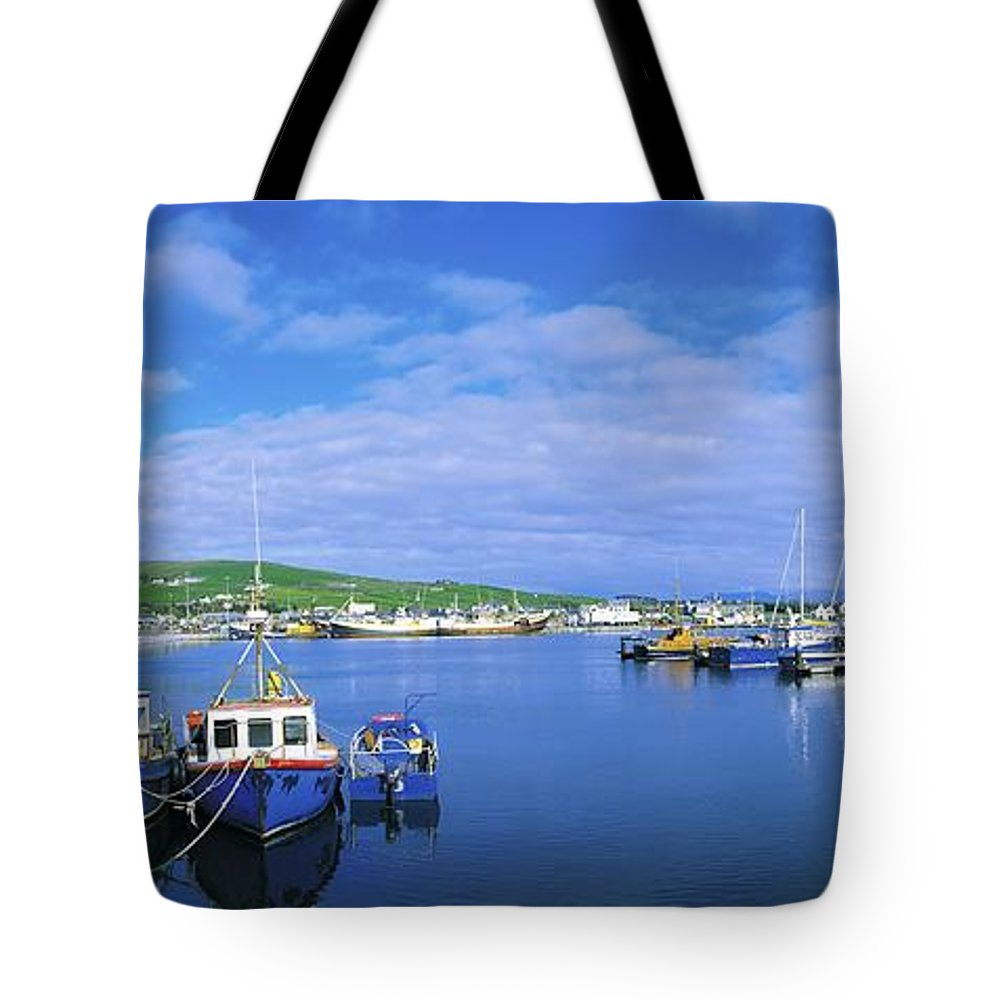 Atlantic Ocean Tote Bag featuring the photograph Dingle Town & Harbour, Co Kerry, Ireland by The Irish Image Collection
