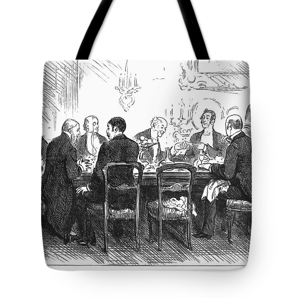 1880 Tote Bag featuring the photograph Dinner Party, 1880 by Granger