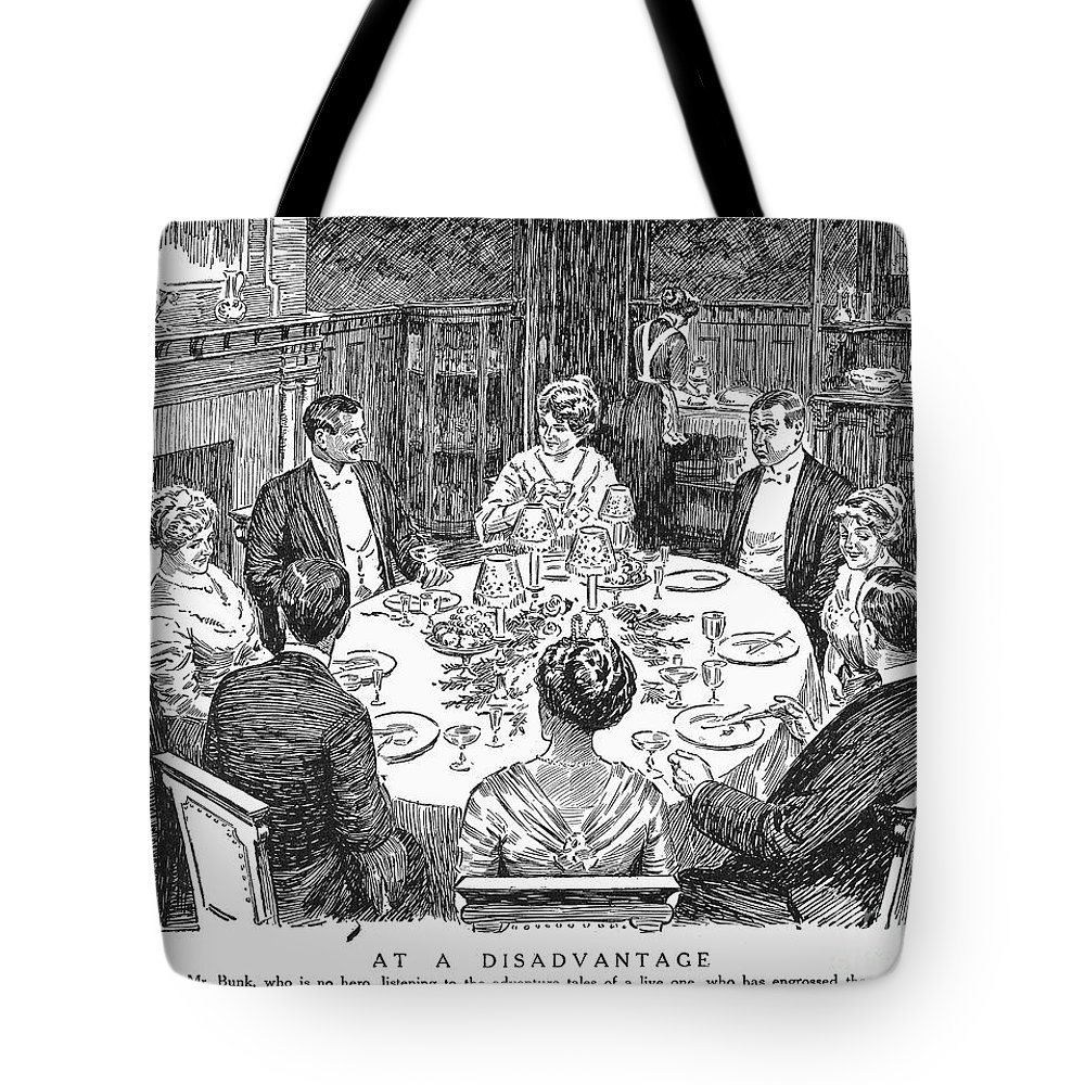 1915 Tote Bag featuring the photograph Dinner Party, 1915 by Granger