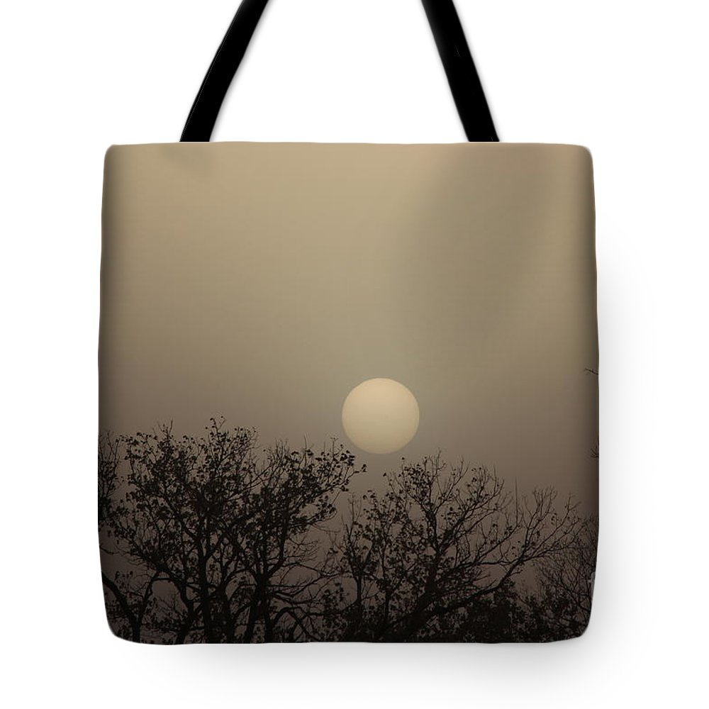 Sun Tote Bag featuring the photograph Dirt Storm Sunset Natural Color Of It by Robert D Brozek
