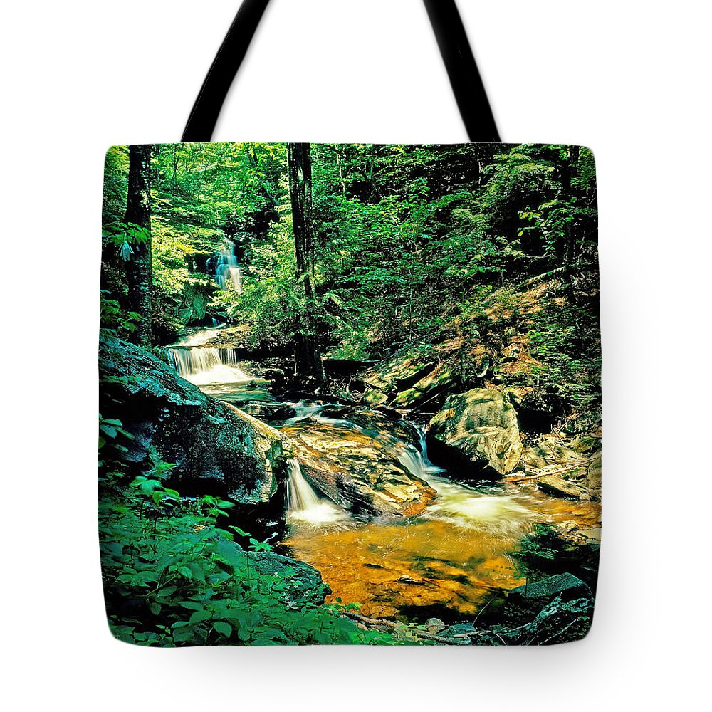 Pennsylvania Tote Bag featuring the photograph Distant Ozone Falls And Rapids - Summer by Rich Walter