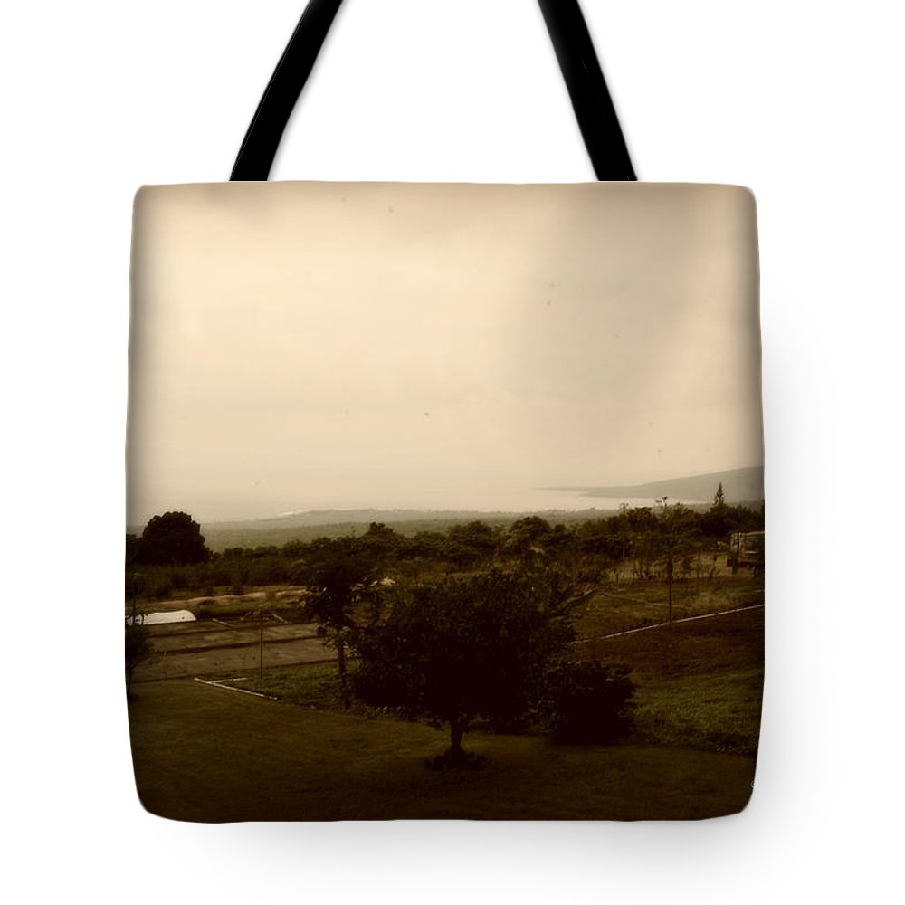 Interior Design Tote Bag featuring the photograph Distant Shoreline by Paulette B Wright