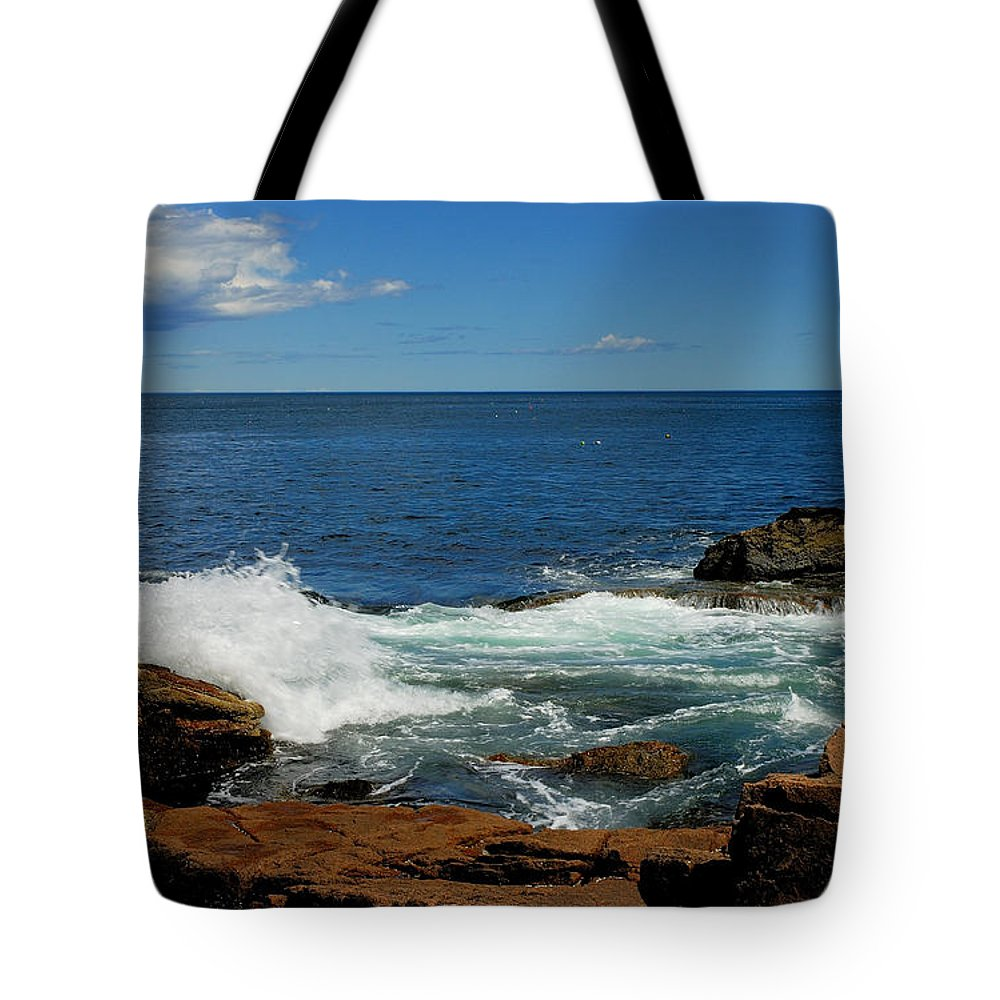 acadia National Park Tote Bag featuring the photograph Distant Storm by Paul Mangold