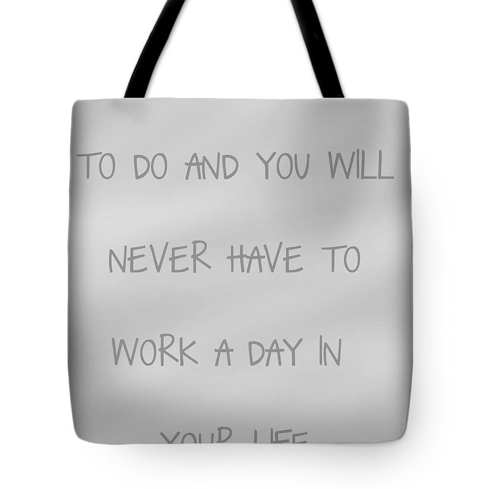 Concept Tote Bag featuring the digital art Do What You Love - Silver Grey by Georgia Fowler