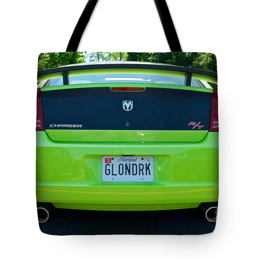 Dodge Charger Hemi Tote Bag featuring the photograph Dodge Charger Hemi 9 by Mark Dodd