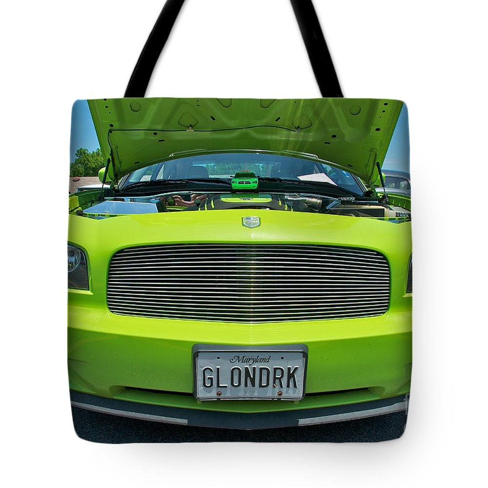 Dodge Charger Hemi Tote Bag featuring the photograph Dodge Charger Hemi by Mark Dodd