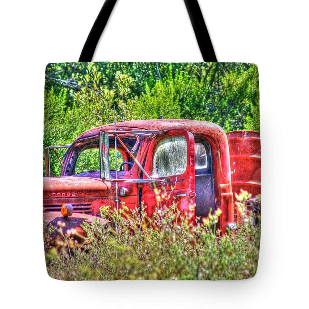 Truck Tote Bag featuring the photograph Dodge Pickup Truck by Tap On Photo