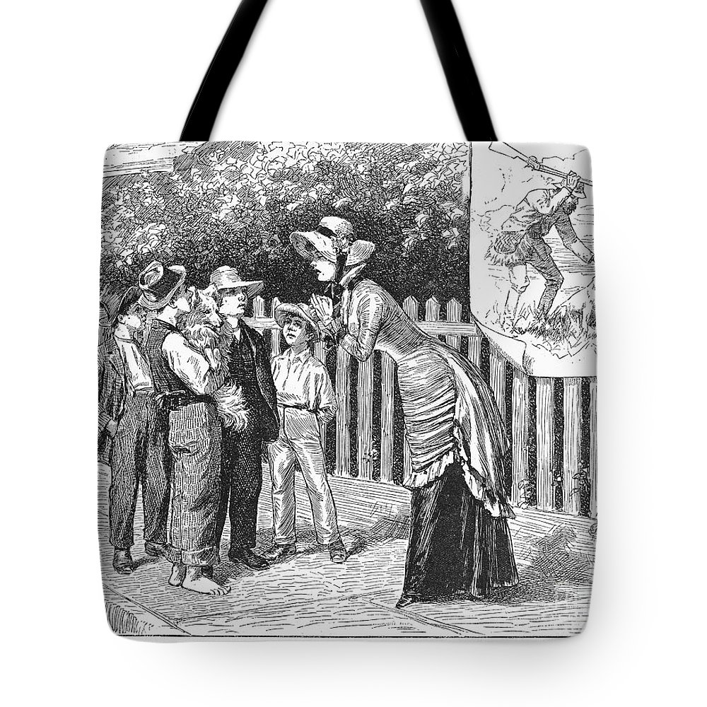 19th Century Tote Bag featuring the photograph Dogs, 19th Century by Granger