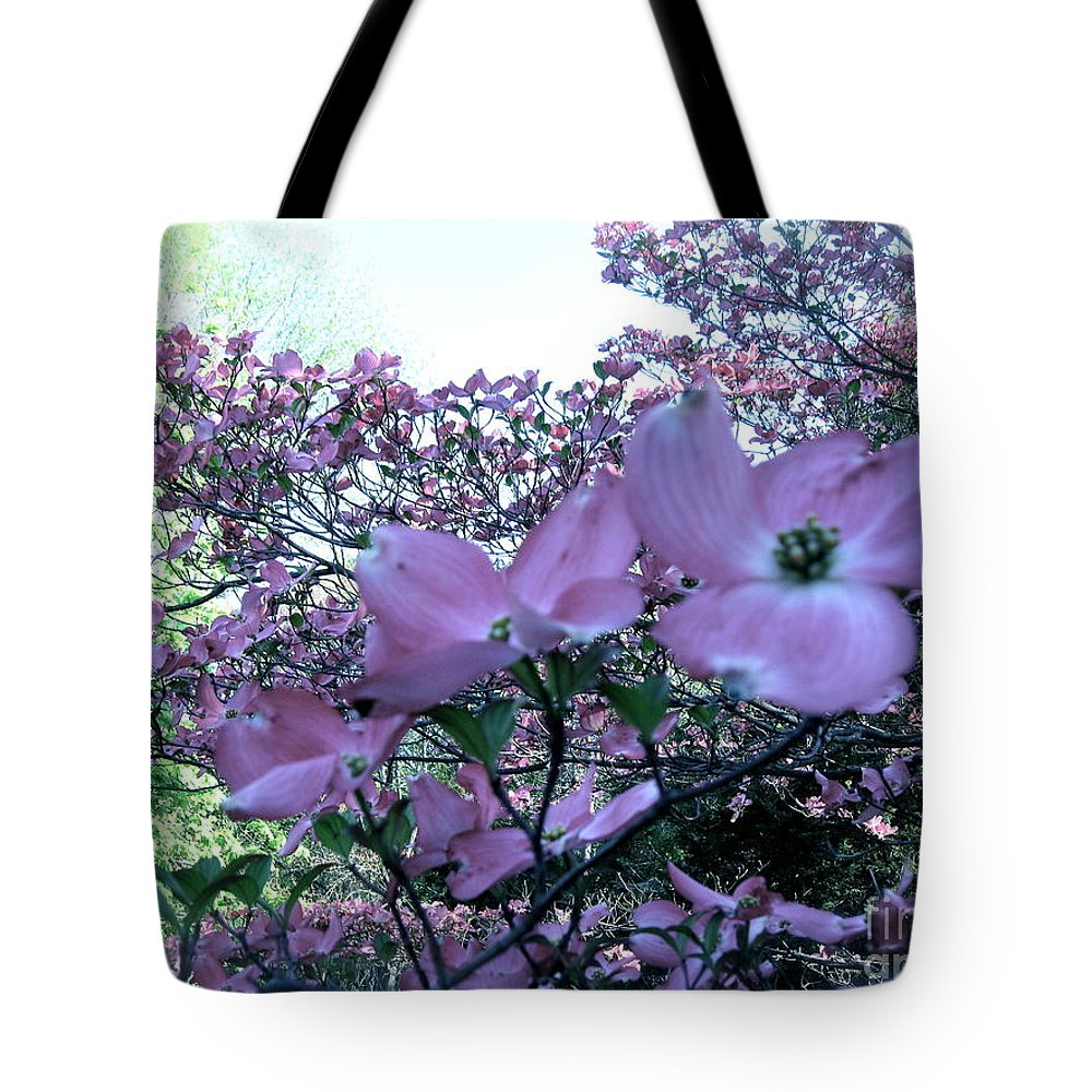 Pink Dogwood In Bloom Tote Bag featuring the photograph Dogwood by Nancy Patterson