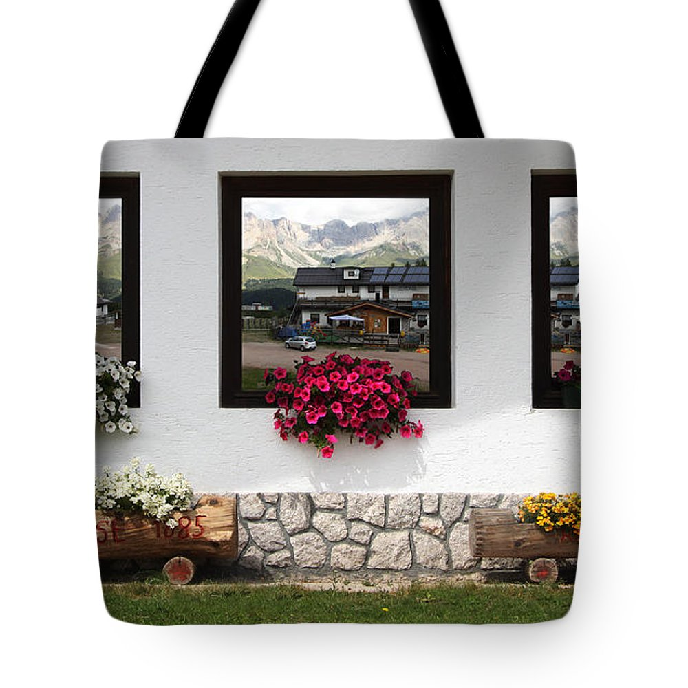 Landscape Tote Bag featuring the photograph Dolomiti On Spring by Celiane Osimo