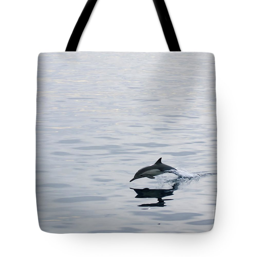 Dolphin Tote Bag featuring the photograph Dolphin by Diego Re