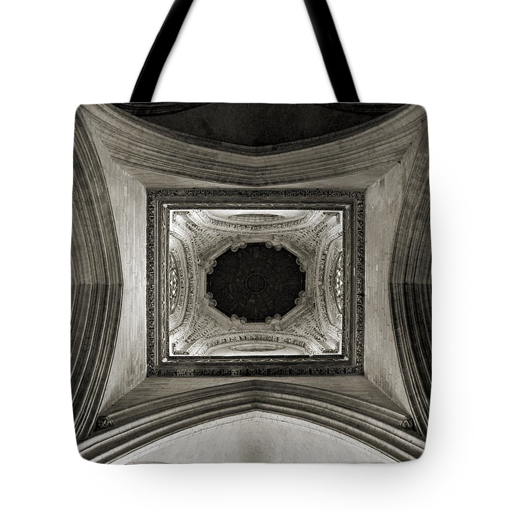 Dome Tote Bag featuring the photograph Dome In Saint Jean Church - Caen by RicardMN Photography