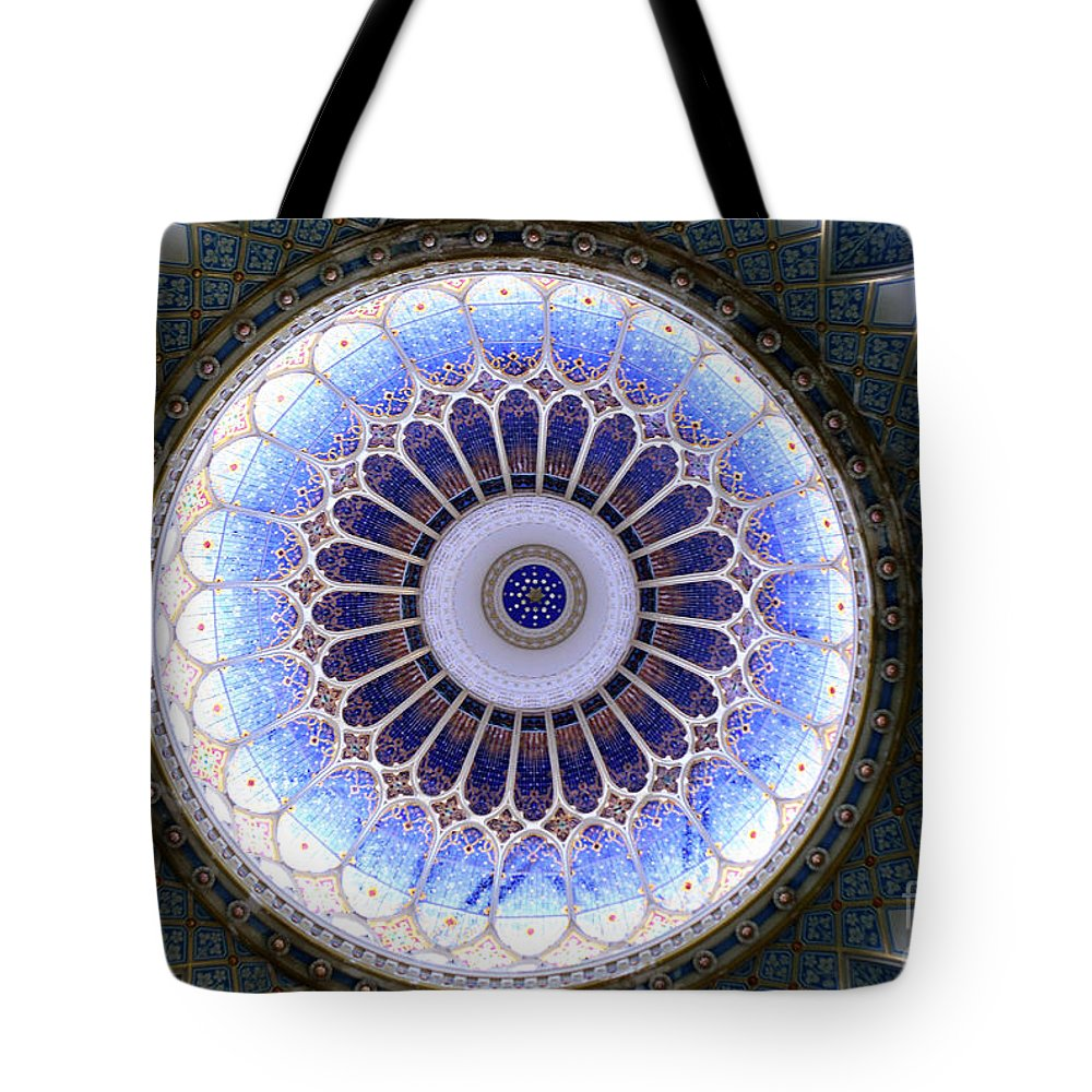 Stained Glass Tote Bag featuring the photograph Dome by Milena Boeva