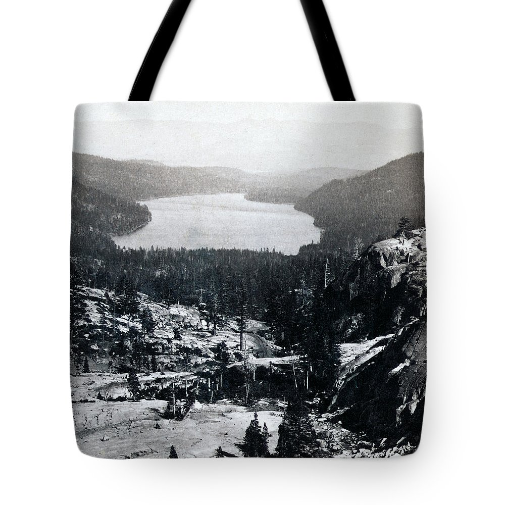 donner Lake Tote Bag featuring the photograph Donner Lake - California - C 1865 by International Images