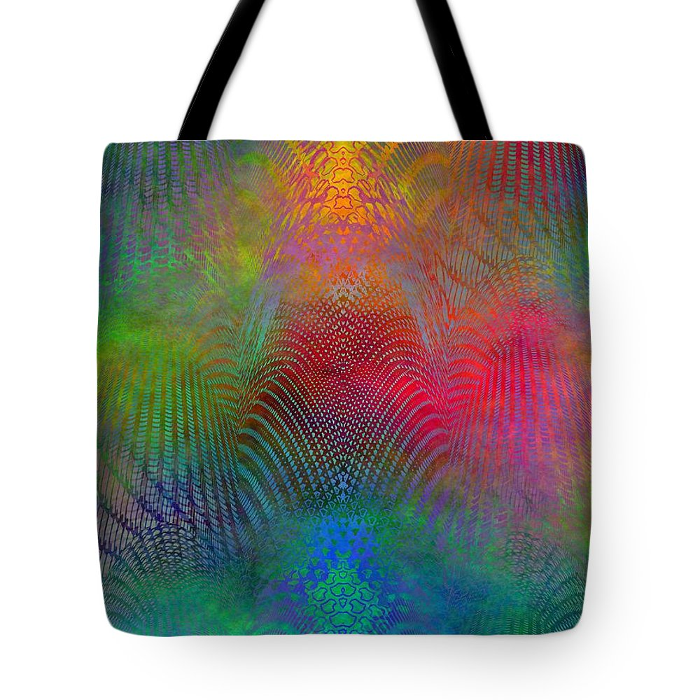 Fence Tote Bag featuring the digital art Dont Fence Me In 2 by Tim Allen