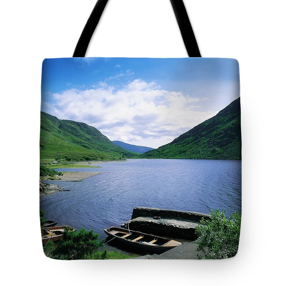 Beauty In Nature Tote Bag featuring the photograph Doo Lough, Delphi, Co Mayo, Ireland by The Irish Image Collection