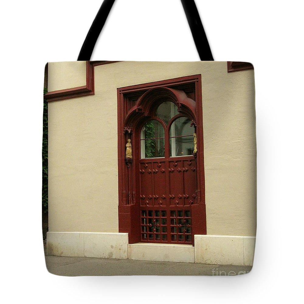 Closed Door Tote Bag featuring the photograph Door by Arlene Carmel