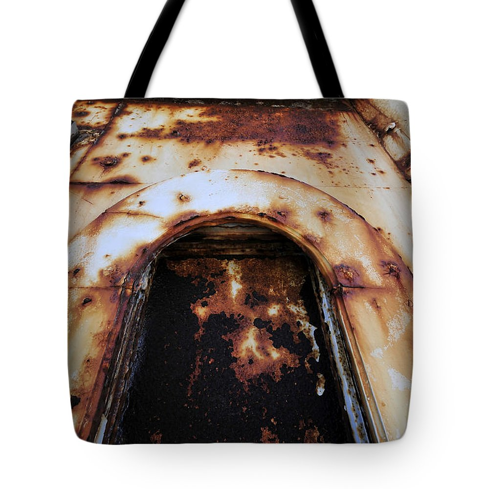Fine Art Photography Tote Bag featuring the photograph Door Of Rust by David Lee Thompson