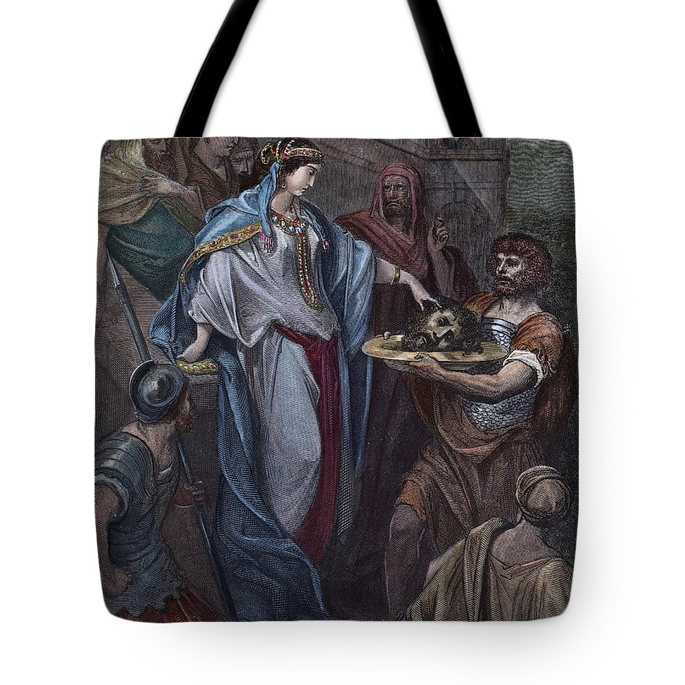 19th Century Tote Bag featuring the photograph Dor�: Daughter Of Herod by Granger