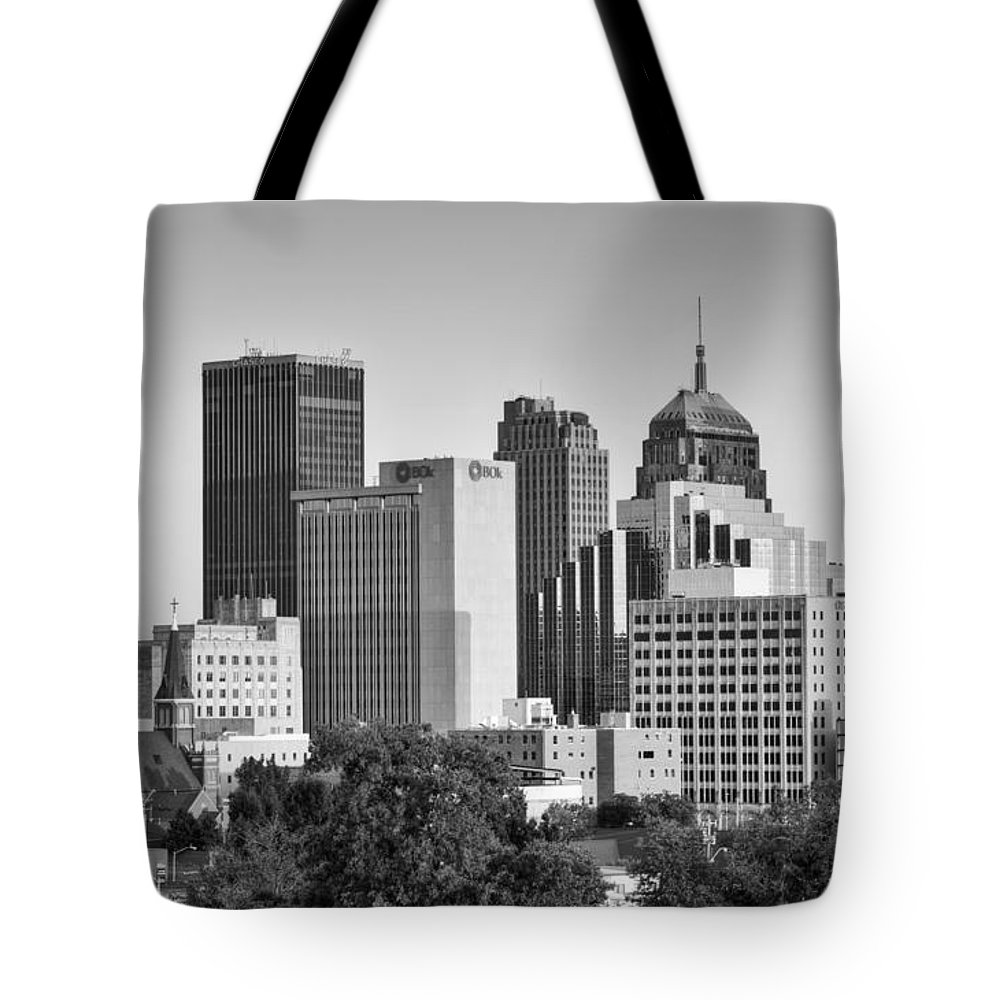 Okc Tote Bag featuring the photograph Downtown Okc by Ricky Barnard