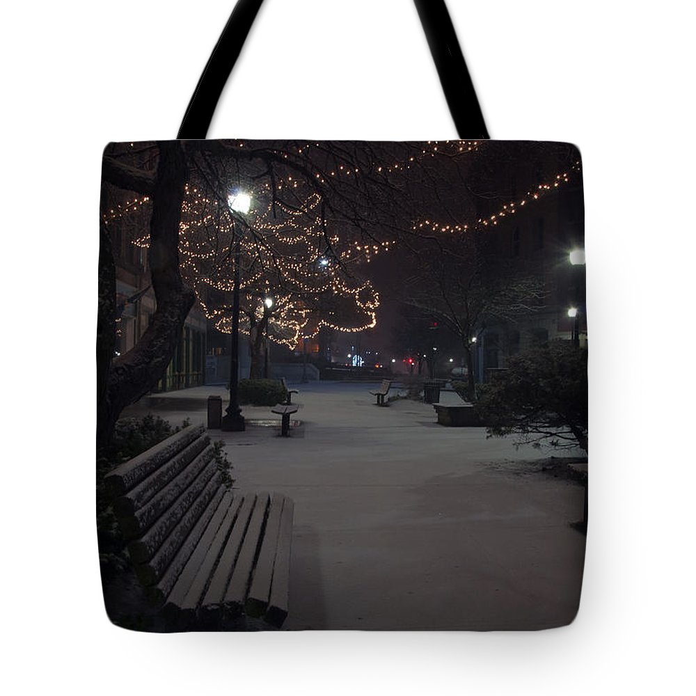 Downtown Tote Bag featuring the photograph Downtown Winter by Glenn Gordon