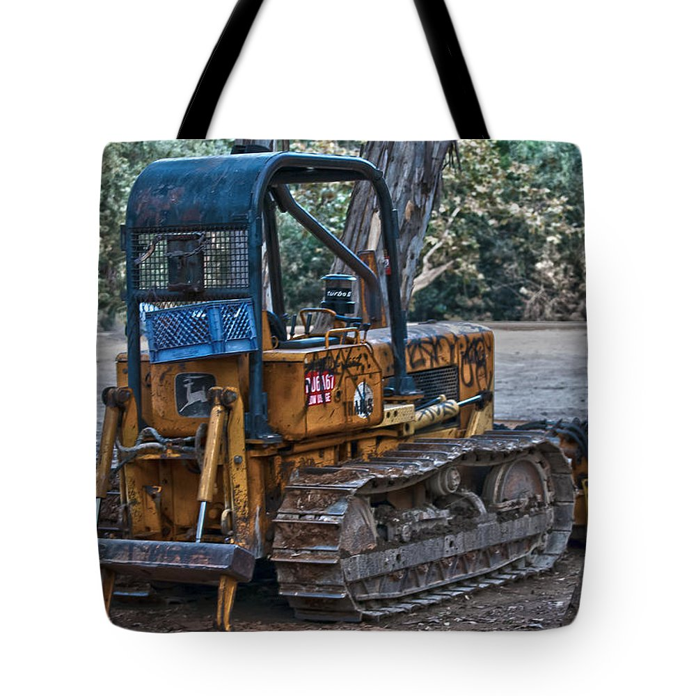 Machine Tote Bag featuring the photograph Dozer by Stephanie Haertling