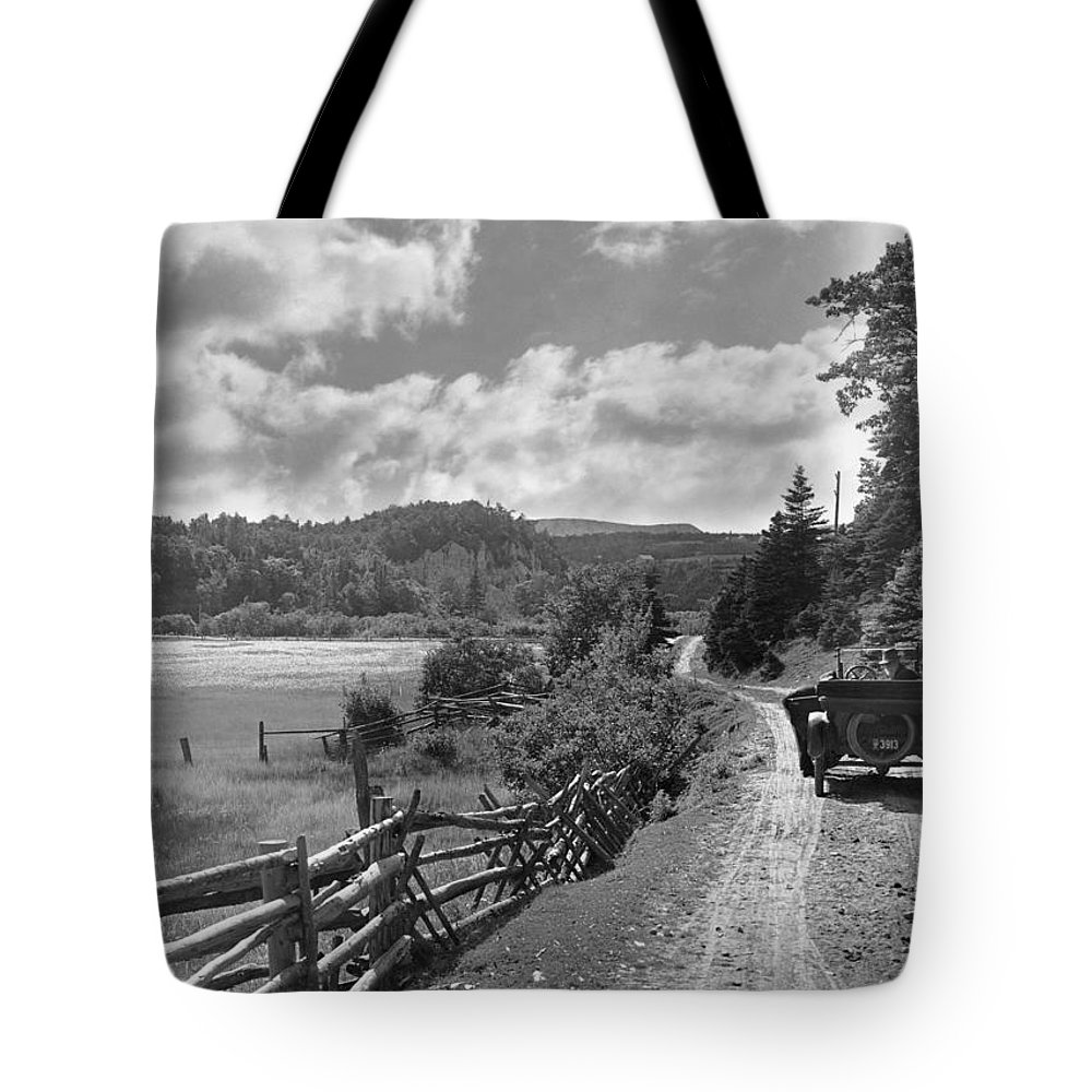 North America Tote Bag featuring the photograph Dr. Alexander Graham Bell And An by Bell Collection