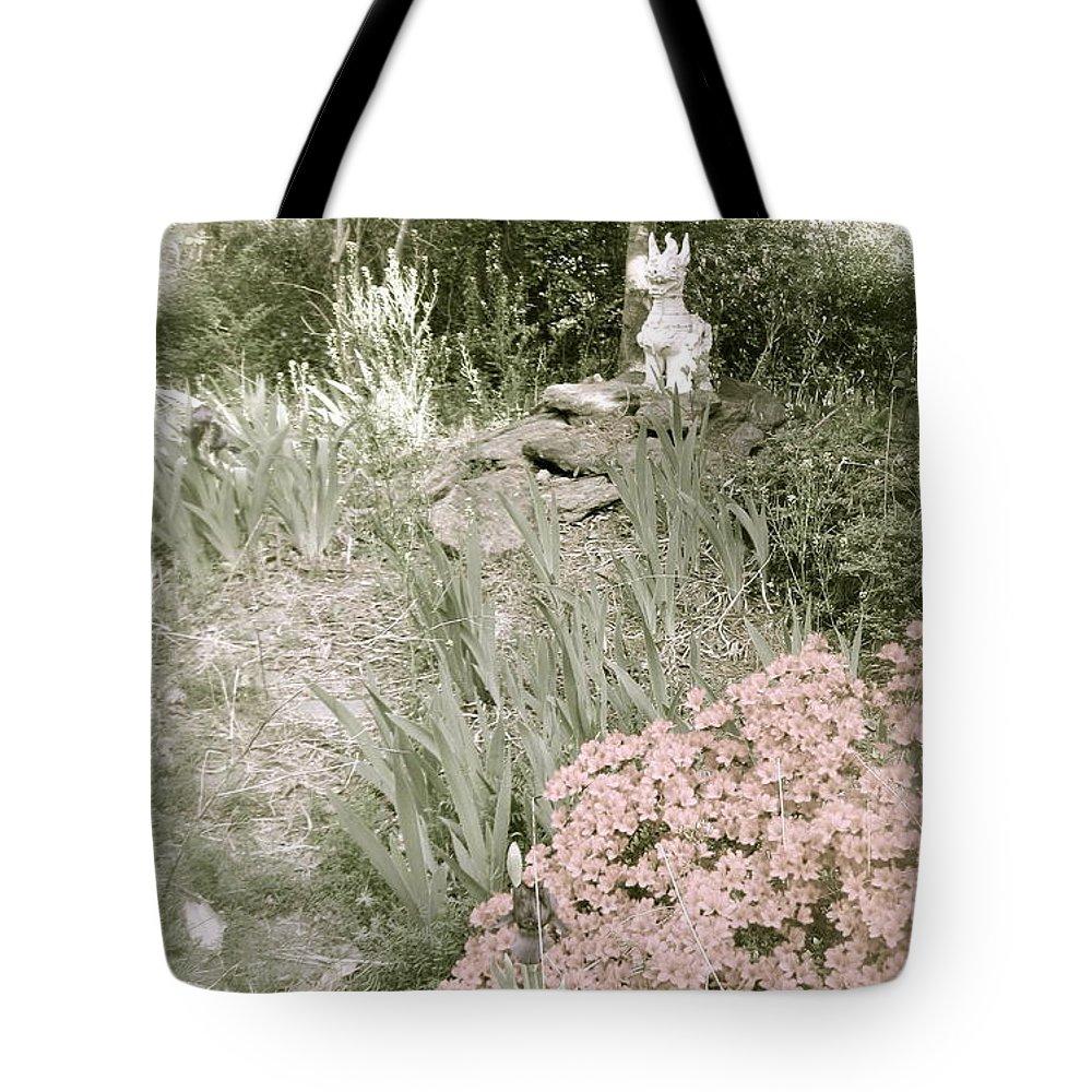 Garden Tote Bag featuring the photograph Dragon Garden by Nancy Patterson
