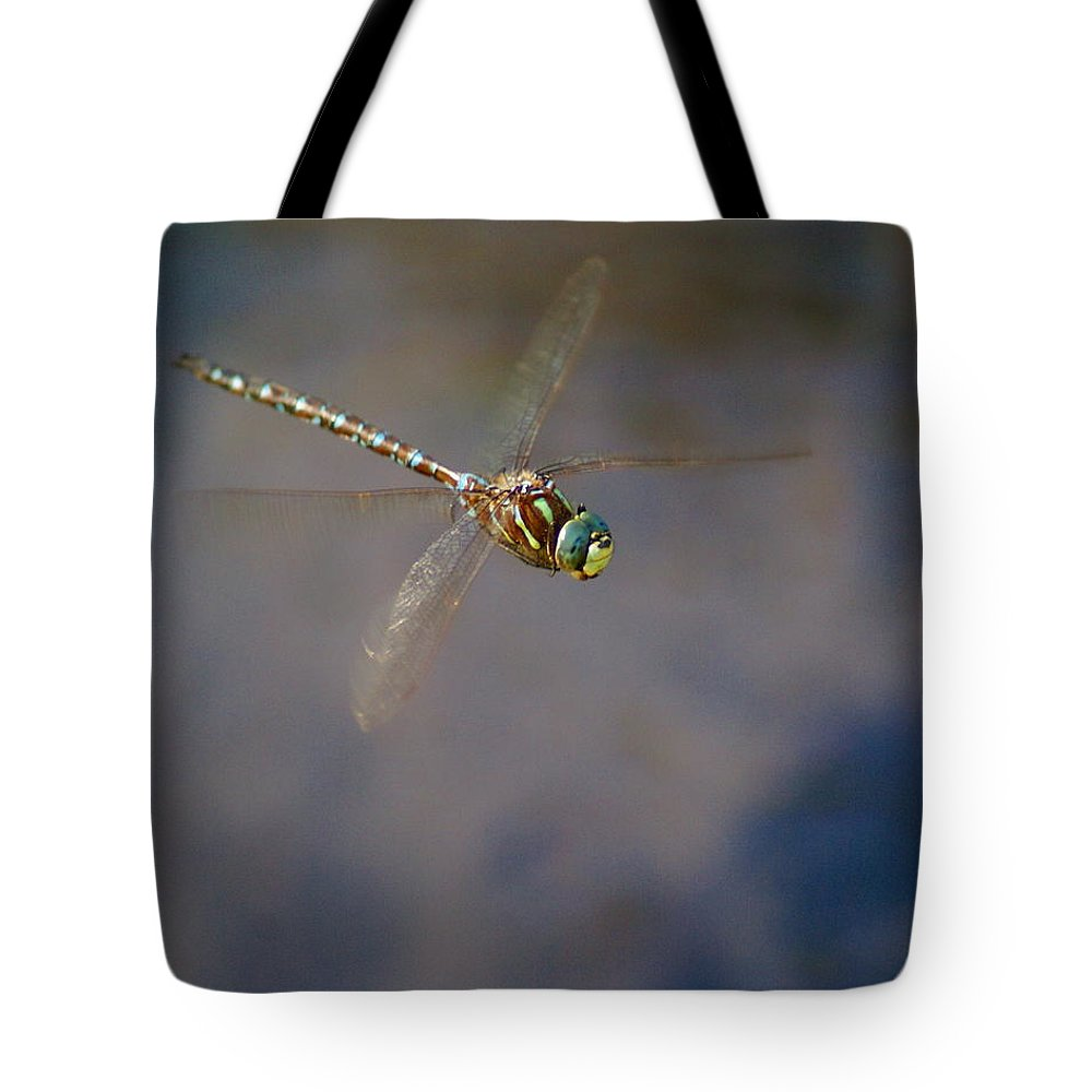 Dragonfly Tote Bag featuring the photograph Dragonfly 2012 by Ben Upham III