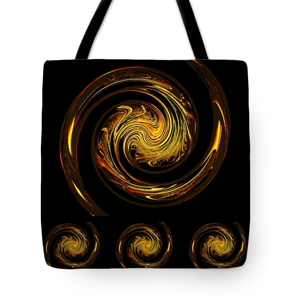 Abstract Tote Bag featuring the digital art Dragons IIi by Leslie Revels