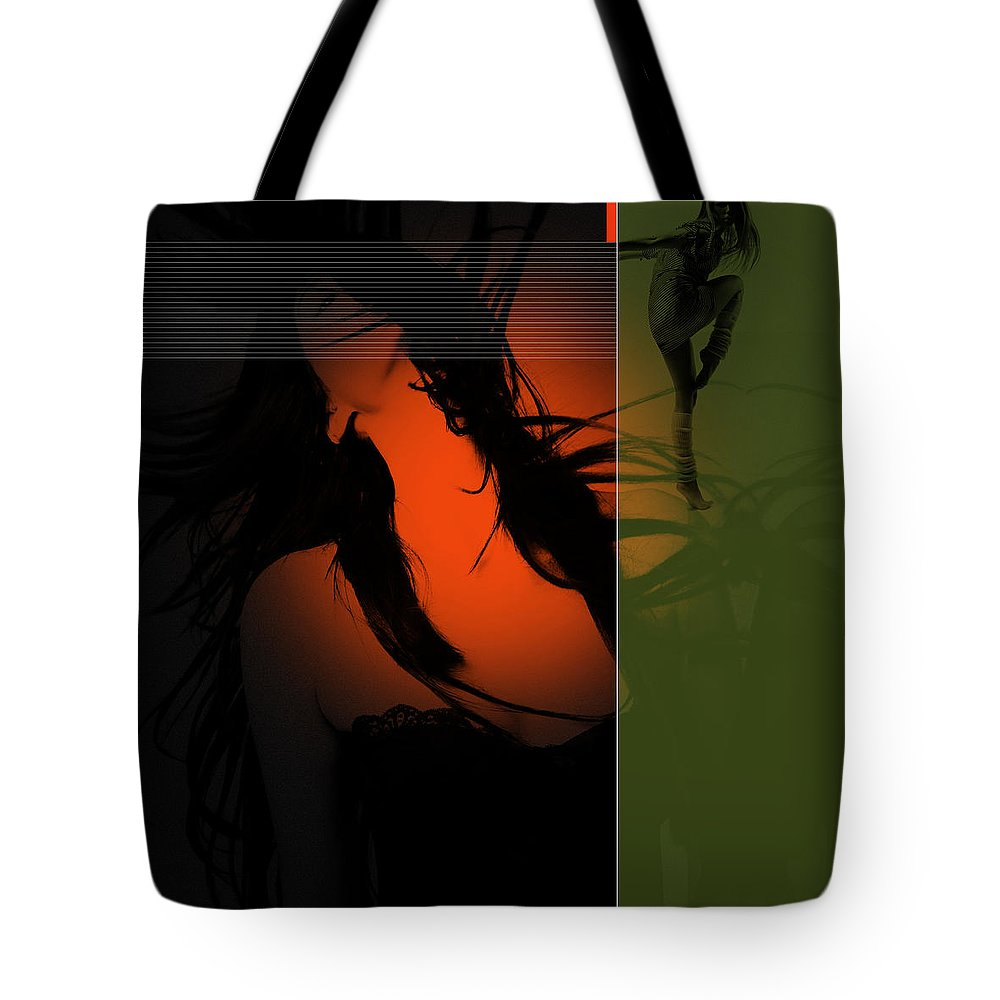 Romantic Tote Bag featuring the digital art Dream by Naxart Studio