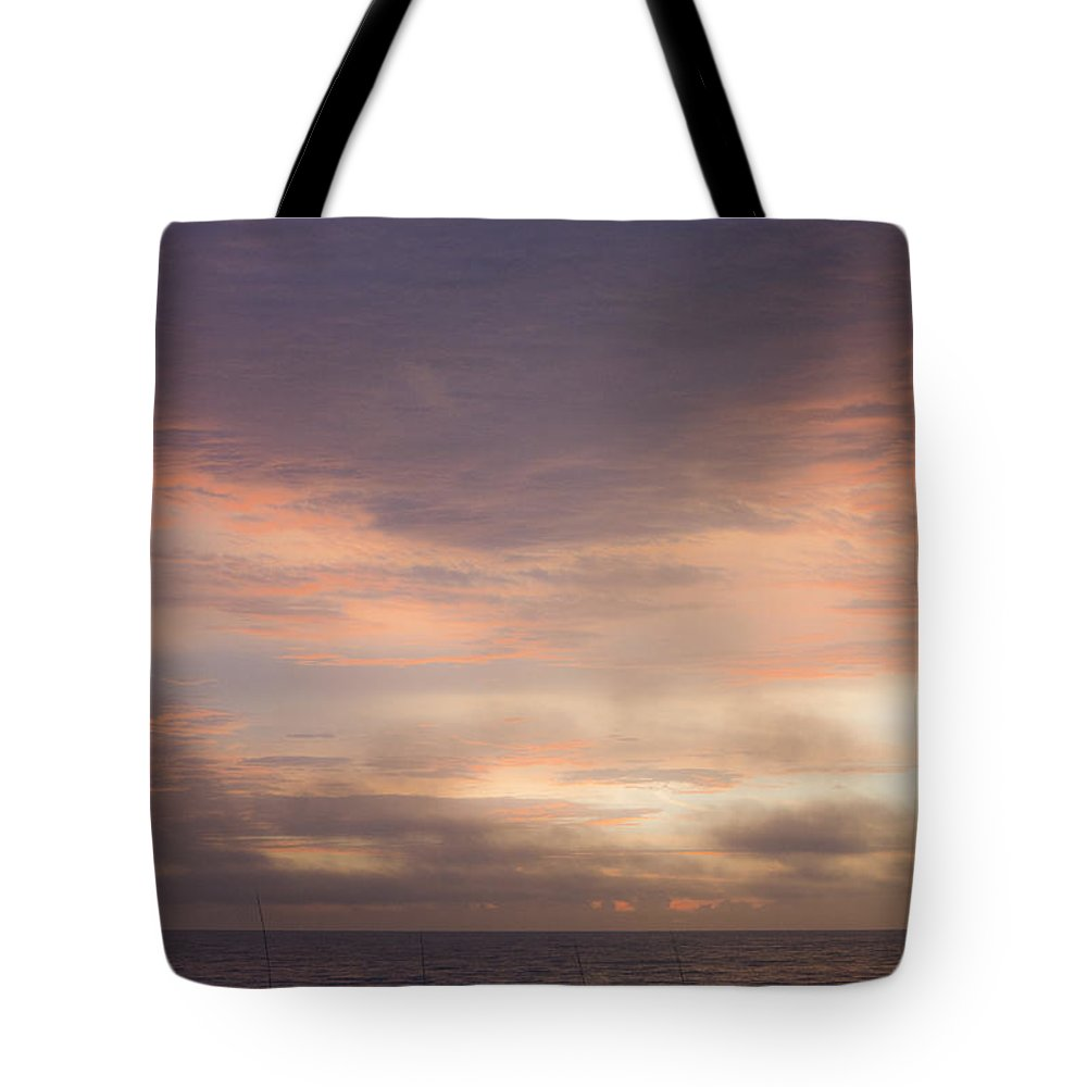Sunrise Tote Bag featuring the photograph Dreamy Sunrise Over The Atlantic by Teresa Mucha
