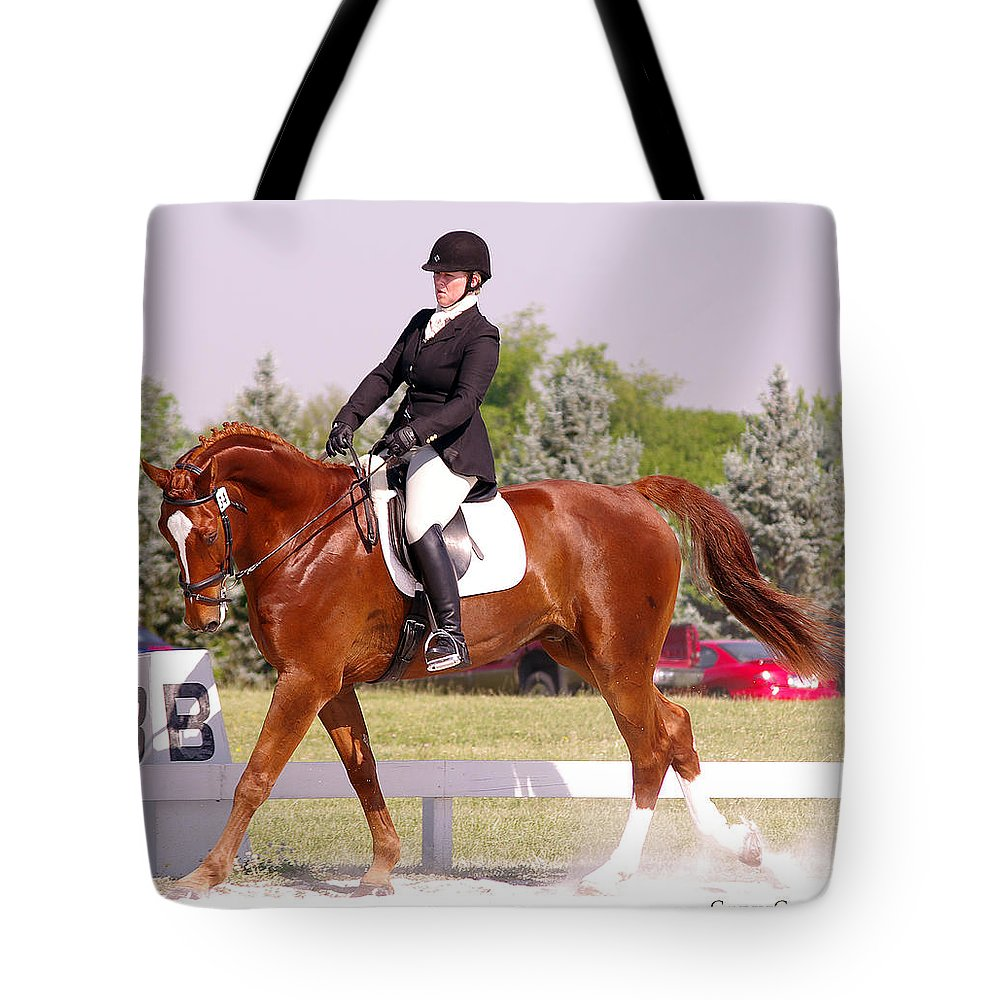 Horse Tote Bag featuring the photograph Dressage Test by Jenny Gandert