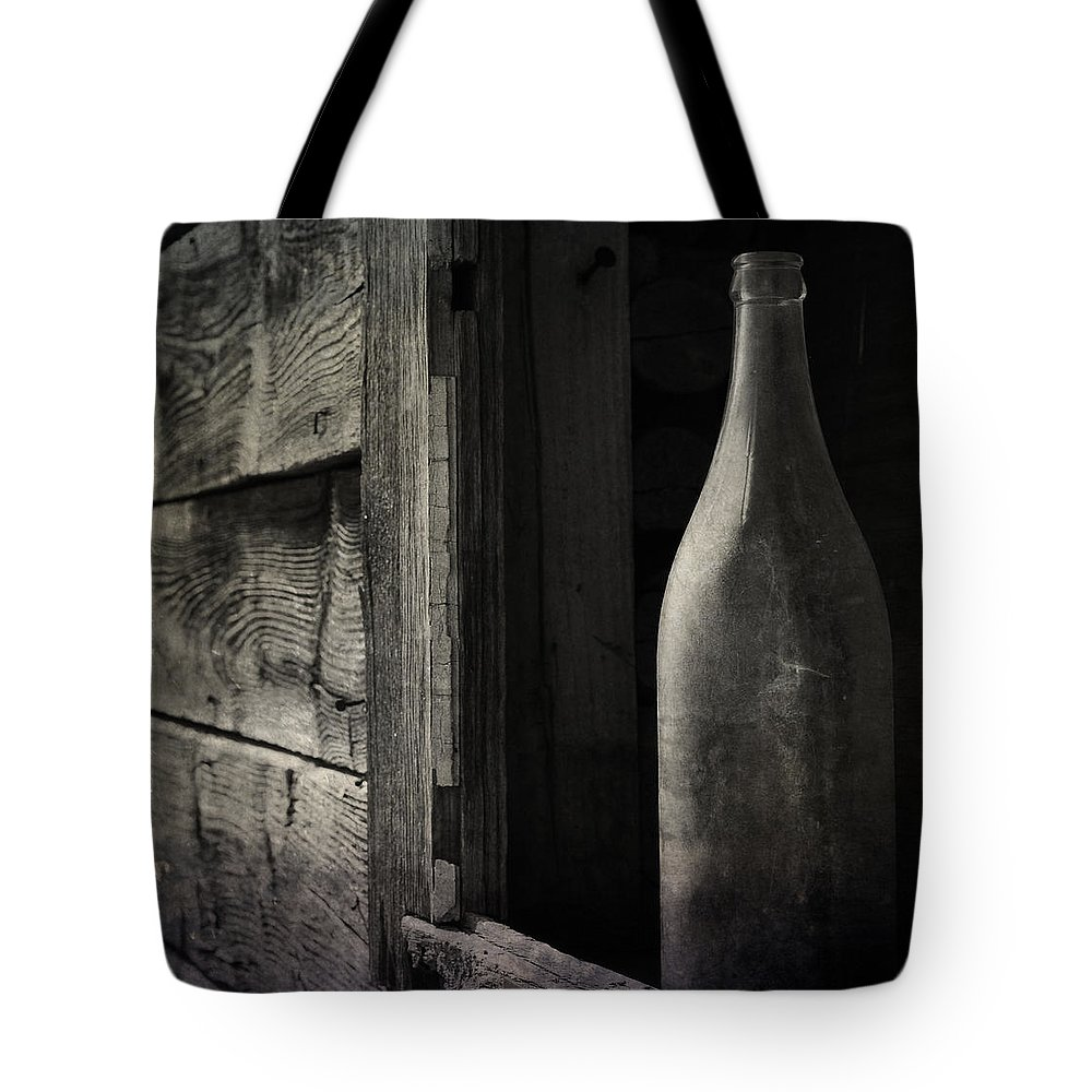 Bottle Tote Bag featuring the photograph Dry Winds by The Artist Project