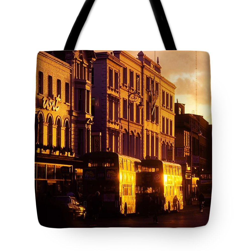 Transportation Tote Bag featuring the photograph Dublin, Co Dublin, Ireland Buildings by The Irish Image Collection