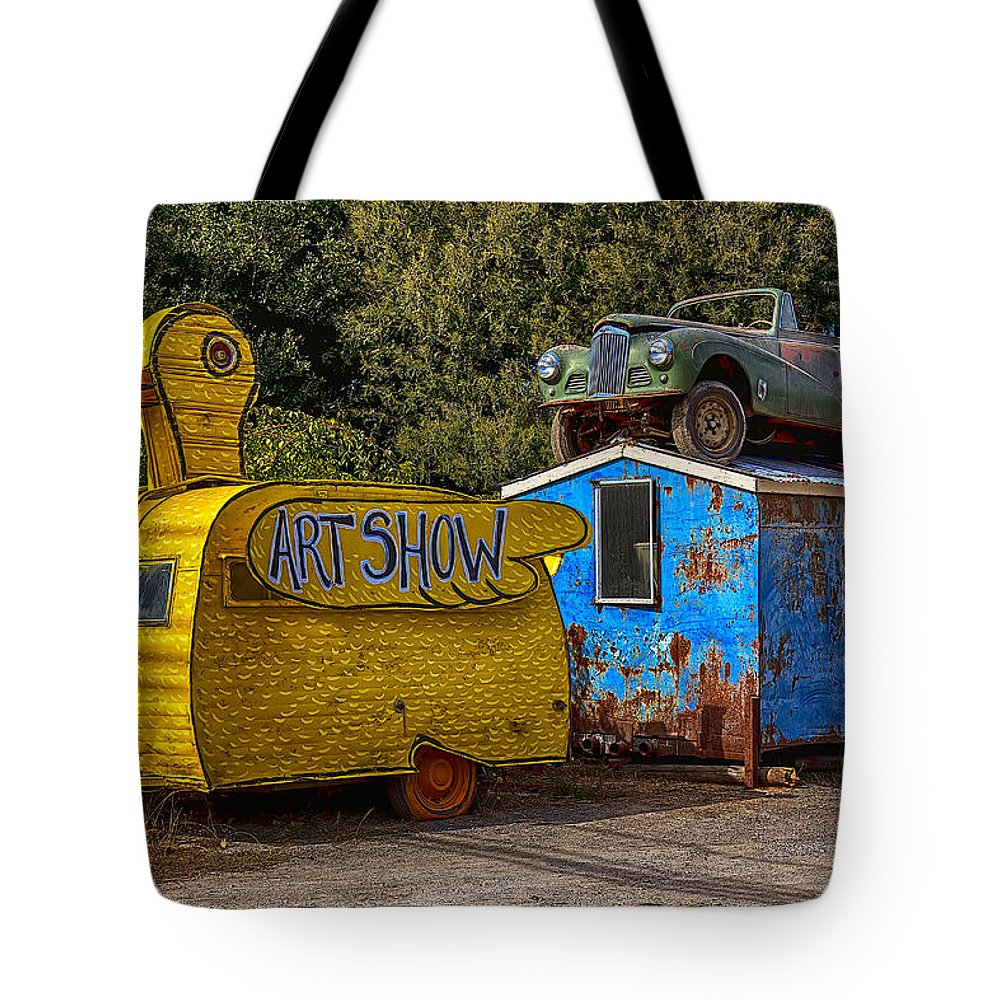 Duck Tote Bag featuring the photograph Duck Trailer by Garry Gay
