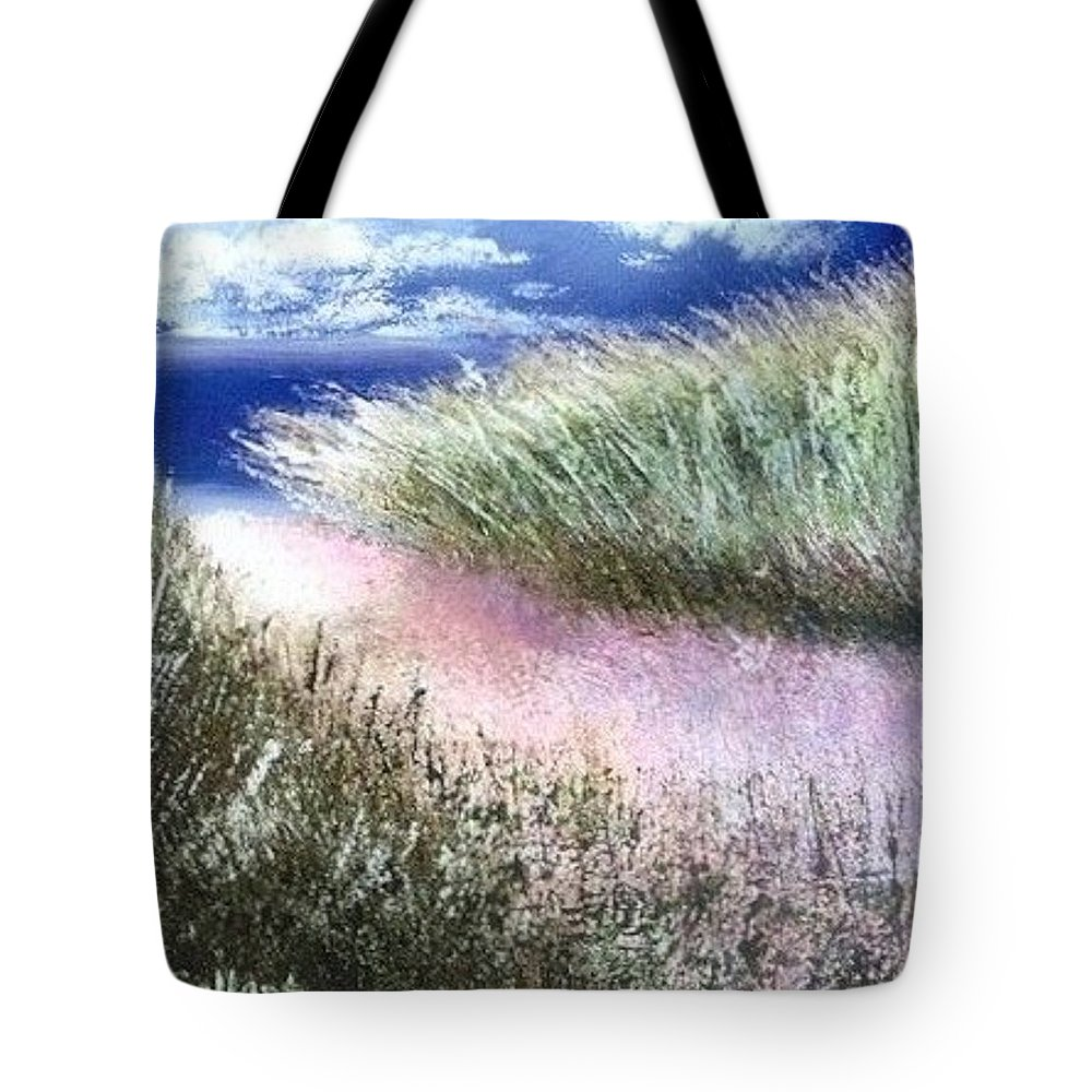 Sand Dunes Tote Bag featuring the painting Dune Path by Joseph Gallant