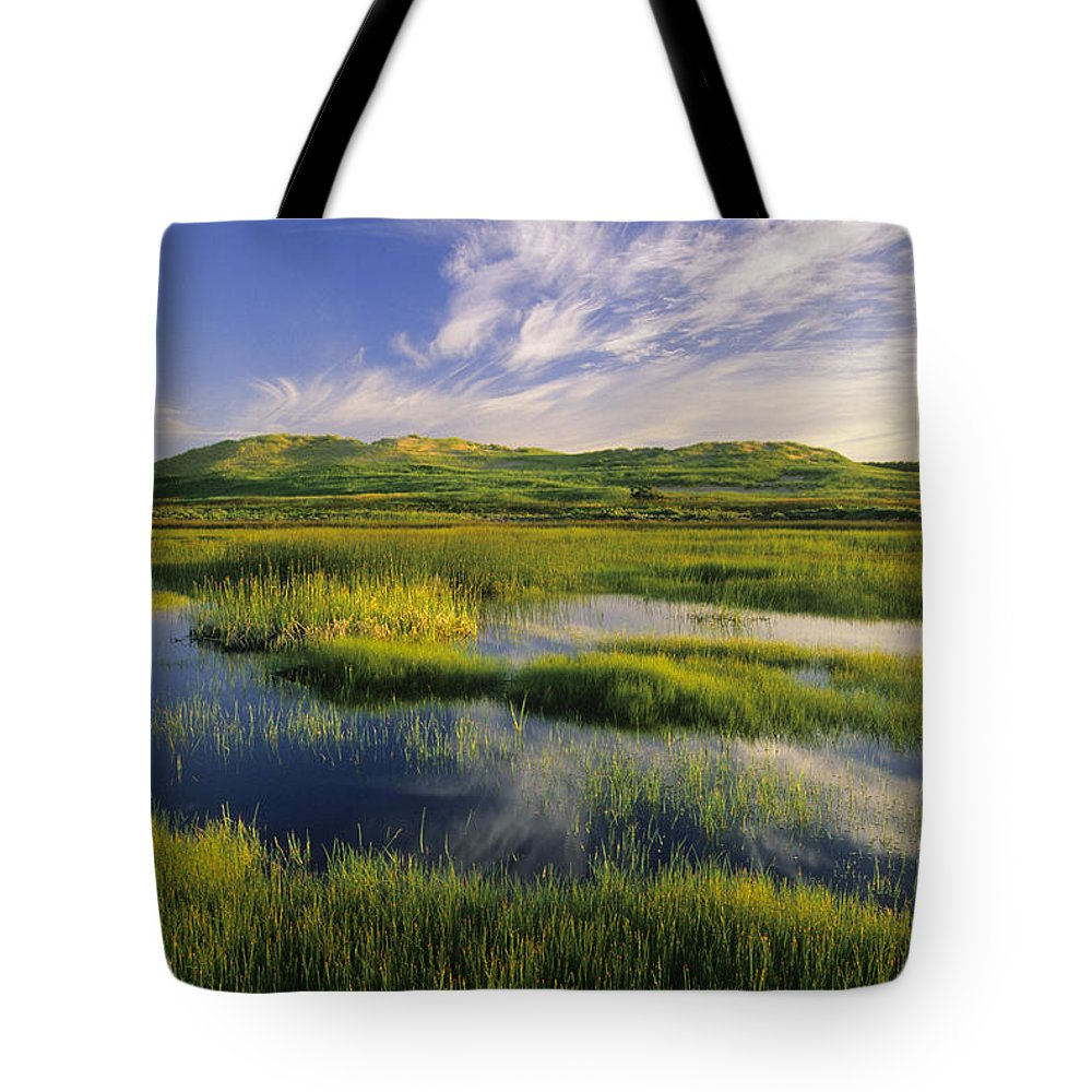 Cloud Tote Bag featuring the photograph Dune Pond, Brackley, Prince Edward by John Sylvester