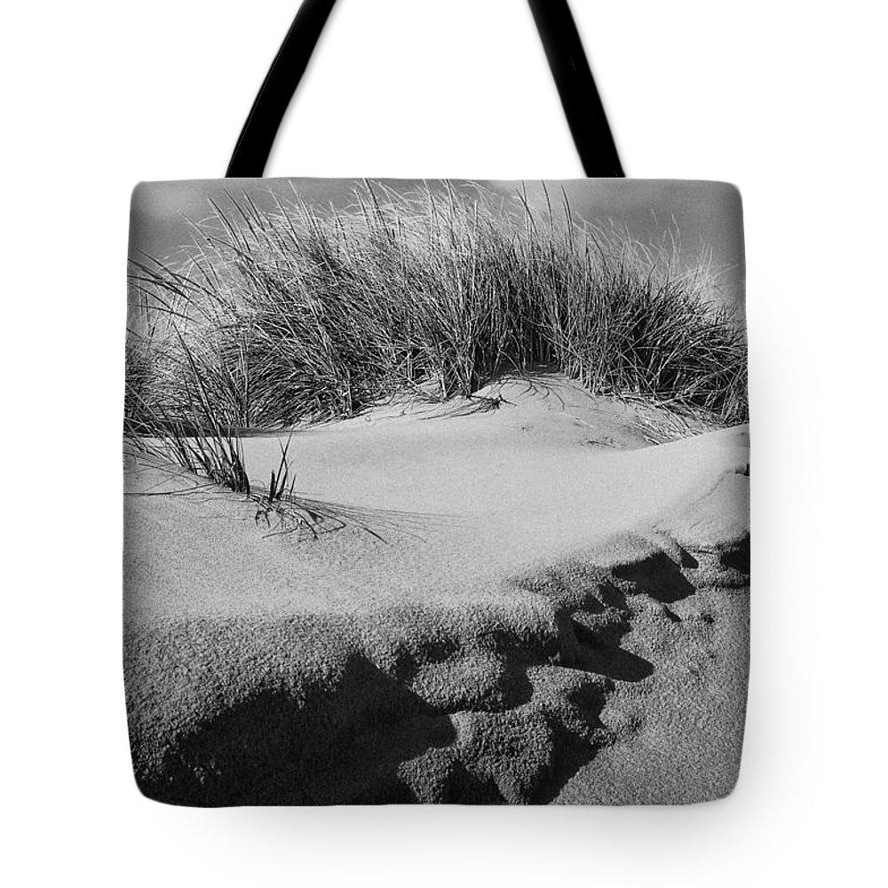 Dunes Tote Bag featuring the photograph Dunes On A Staten Island Beach by Nancy De Flon