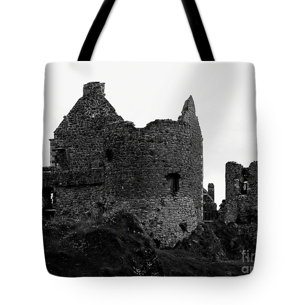 Dunluce Castle Tote Bag featuring the photograph Dunluce Castle by Patricia Griffin Brett