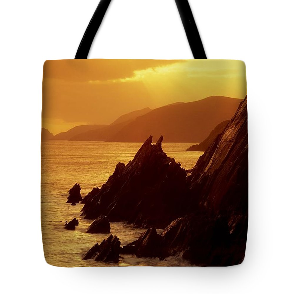 Coast Tote Bag featuring the photograph Dunmore Head, Dingle Peninsula, County by Richard Cummins