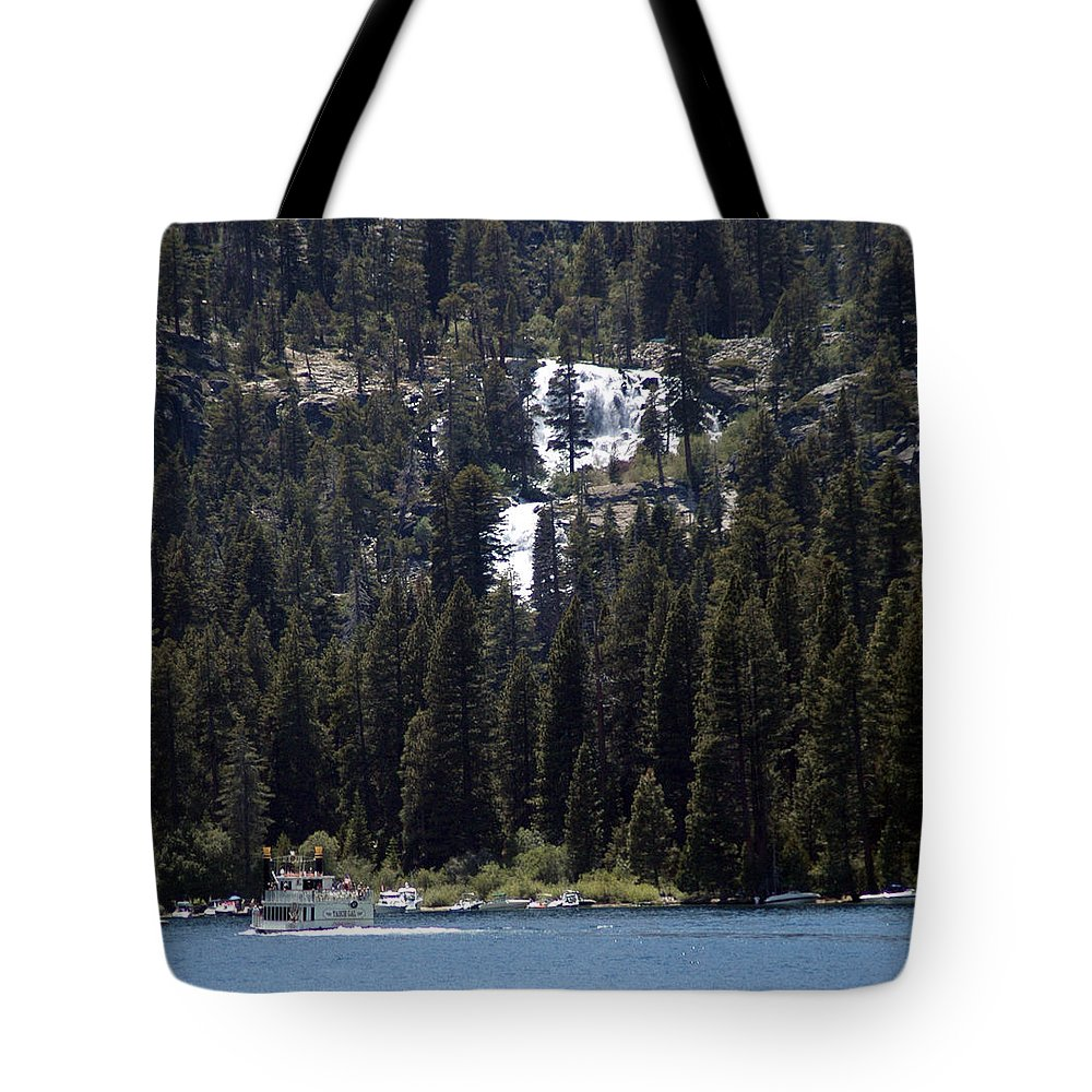 Usa Tote Bag featuring the photograph Eagle Falls by LeeAnn McLaneGoetz McLaneGoetzStudioLLCcom