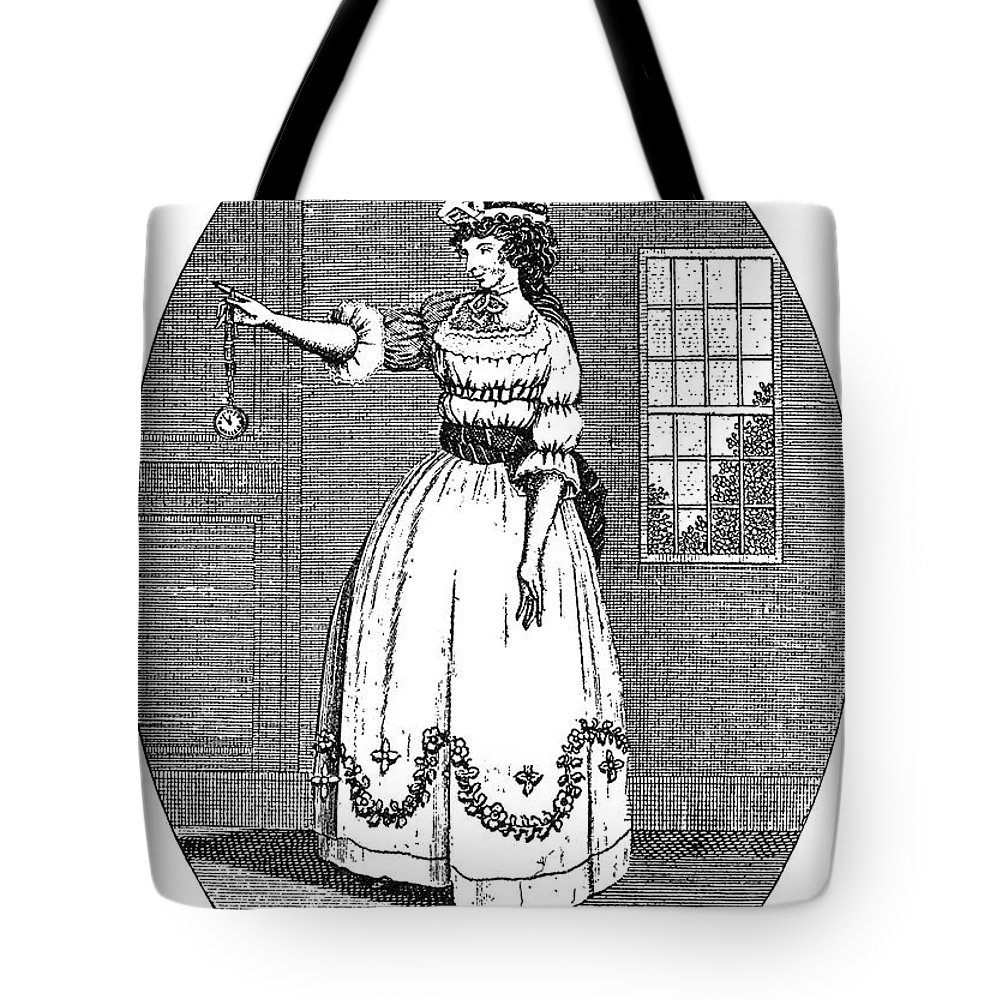 1790s Tote Bag featuring the photograph Early American Actress by Granger