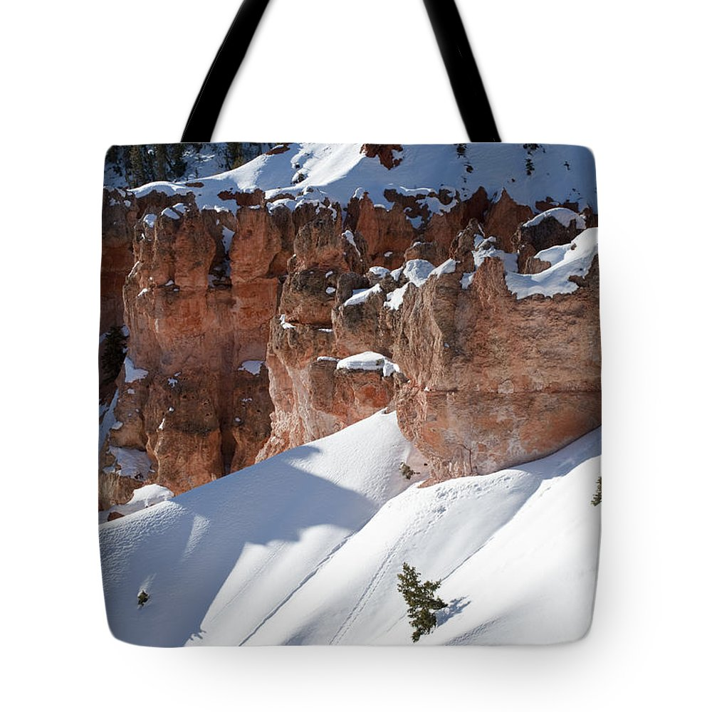 Bronstein Tote Bag featuring the photograph Early Morning Snow In Bryce Canyon by Sandra Bronstein